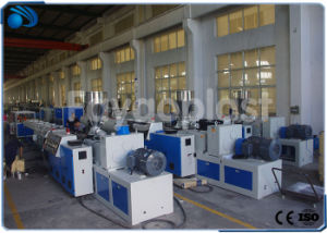 Extrusión de tubo de drenaje de agua de PVC de la línea de producción