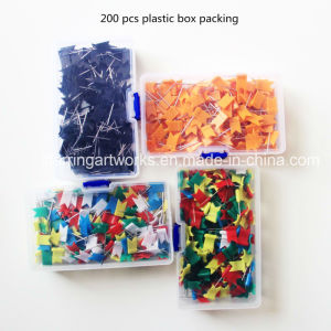 Form sortierte Farben-Wellen-Markierungsfahnen-Form-Plastikbüro-Papier-Stifte
