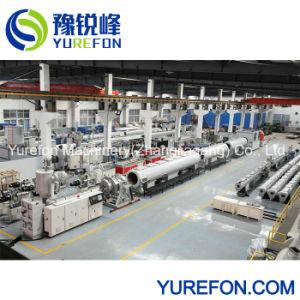 Máquina de extrusión de doble tornillo cónico de la línea de producción para el drenaje de agua de PVC&&Tubo conduit