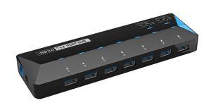 7 puertos USB 3.0 HUB con 12V4un adaptador de alimentación 2X Soporte de carga rápida de la función de puerto