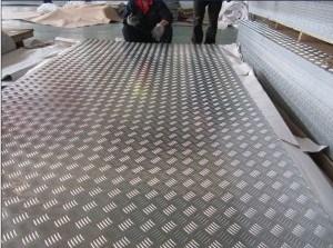 Placa de Bitola de alumínio para Flooring & Placa quadriculada de alumínio (pequenos de 5 bar, brilhante)