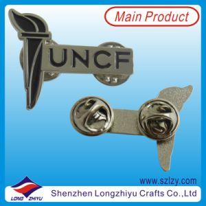 Butterfly Clutch (LZY-10000245)のLogo刻まれたNickel Lapel Pin