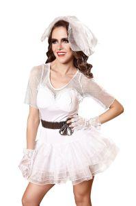 Ghost Zombies de la femme mariée Fancy Dress Halloween Party cosplay costume lingerie sexy nuisette Sexy Hot dentelle Lingerie transparente