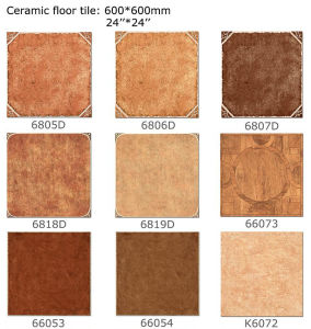 Ceramische Verglaasde Tegel, de Rustieke Tegel van het Porselein voor Vloer