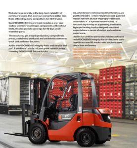2.5t Diesel Forklift met Yanmar Engine met Ce