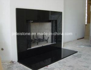 De opgepoetste zwarte open haard van het graniet shanxi met