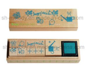 부활절 나무로 되는 우표 장비 또는 고무 도장 장비