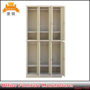 6 de Kast van de Gymnastiek van het Metaal van de Opslag van de Kleren van het Staal van de deur
