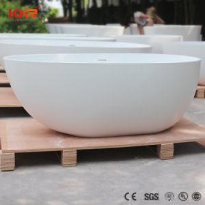 のどの石造りの楕円形の浴槽の固体表面の浴槽