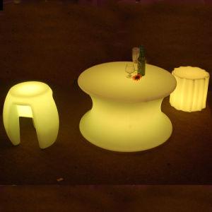 LED LED iluminado cúbica de cadeira de presidente Esplanada mobília do pátio