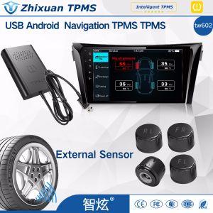 Sistema di controllo automatico professionale di pressione di gomma del sensore di pressione di gomma dell'universale TPMS con la temperatura di esposizione di APP