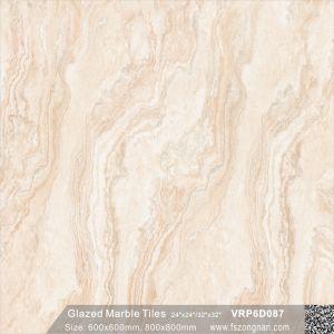 建築材料の艶をかけられた大理石の磨かれた磁器の床タイル(600X600mm、VRP6D039)
