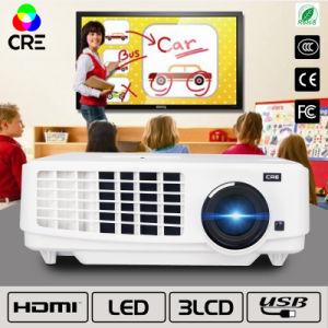 Casa de alto brillo y el espacio de referencia mediante el proyector de LED