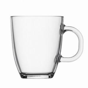 Promoción 13oz Tazas taza de vidrio transparente con asas