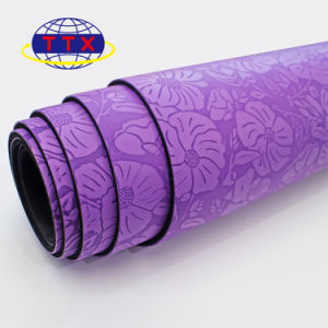 De Mat van pvc van de chloride-Vrije Afgedrukte Douane van de Matten van de Yoga van Eco van de Mat van de Yoga van de Douane Vriendschappelijke