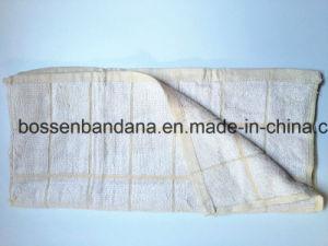 OEMの農産物の習慣T/C CVC 80%の綿のテリーの緑はジャカード台所皿のふきんを点検する