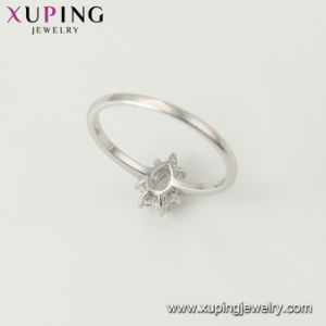 ハート形の銀によってめっきされる宝石類のリング