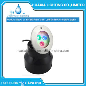 Indicatore luminoso subacqueo bianco del raggruppamento messo LED di IP68 316ss