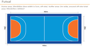 De Sporten die van pvc voor Multifunctionele Gem patroon-8.0mm van de Gymnastiek Dikke Hj21304 vloeren