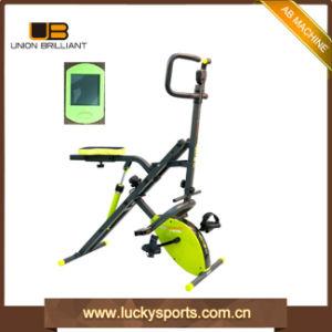 La forma fisica mette in mostra la bici dal corpo intero di scricchiolio X del cilindro di esercitazione