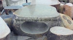 庭の彫刻、花こう岩のベンチ、石造りの椅子(S-12)