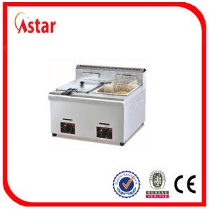 De vrije Bevindende Frituurpan van het Gas, de Kip van Thailand/de Commerciële Braadpan van Vissen met de Controle van Temperaturen voor Restaurant