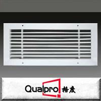 Grelha de ar de venda quente grelha de alumínio de ventilação dupla de alumínio grelhadores de deflexão de ar fresco de alimentação