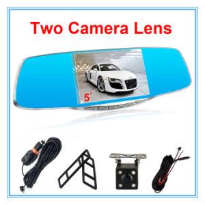 Affichage de 5 pouces à double lentille de caméra de la voiture avec de l'automobile