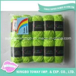 100% algodão Cruz Tecelagem de fios de lã Tricô Rosca Stitch