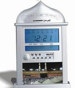 Qiblaの方向を用いるAzanの時計