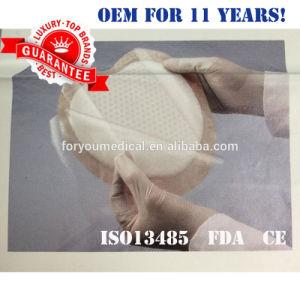 2016 apósito quirúrgico de espuma de silicona suave vendaje con adhesivo de la Frontera