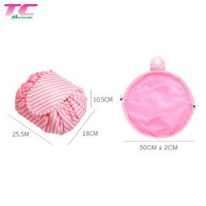 Lindo impermeable Best-Selling Cordón Rosa Organizador de la bolsa de cosméticos para mujer/Dama/niñas, los viajes promocionales maquillaje/Lavado/bolsa de aseo de fábrica directamente