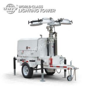 ディーゼル発電機が付いている50Hzトレーラーの移動式軽いタワー
