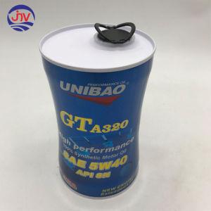 Óleo do Motor Sintético Metal Embalagem Caixa de estanho Tampa de plástico