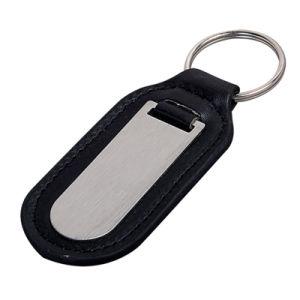 승진 (Ele-K019)를 위한 주문 까만 가죽 열쇠 고리