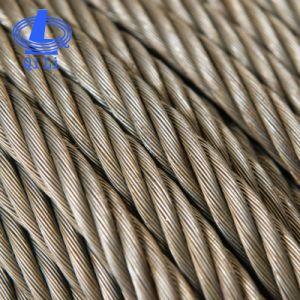 6*37+Iwrc Ungalvanized Cuerda con alambre de acero A2 aceitado para pesca
