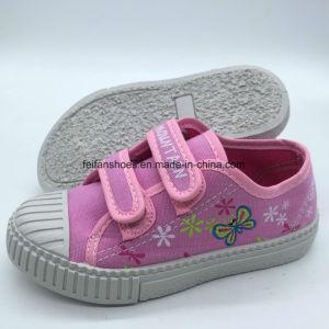 Venta caliente Kids Casual Zapatos de lona de inyección de la Escuela de Magia la cinta (HH18512-3)