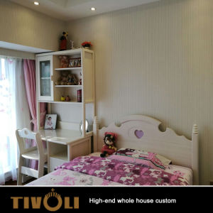 Schlafzimmer-Möbel gesetztes Deisgn für Mädchen Wardrob klassische weiße hölzerne Schränke TV-0594