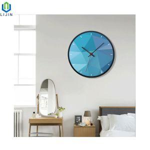 Creador de estilo europeo, reloj cuarzo, reloj de pared de silencio de metal