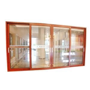 Deur van het dubbel-Glas van het drievoudig-Spoor van het Frame van het Aluminium van de luxe de Op zwaar werk berekende Glijdende met het Scherm van de Vlieg
