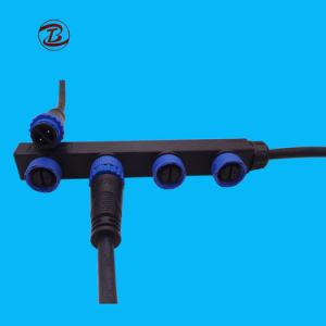 ゴム製ラインM15 2 Pinケーブルの防水ナイロンコネクター