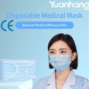 Médicos desechables Non-Woven máscara facial con CE el fabricante de lista blanca de la FDA registradas