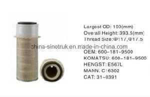 Venta caliente el aceite carburante aire filtros de agua de Komatsu 600-311-3320