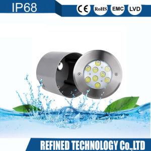 Indicatore luminoso subacqueo messo del raggruppamento dell'acciaio inossidabile LED di IP68 6W RGB