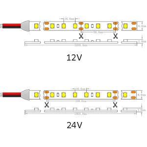 SMD CE UL1210 60 LEDs/M IP65 Luz de LED flexíveis