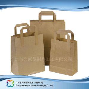 Papel Kraft marrón Embalaje Shopping Bag (XC-BGK-014)