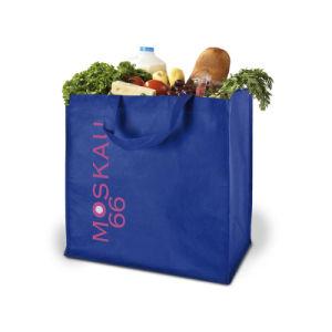 En el mercado de moda personalizada Non-Woven reciclado Bolsa de compras de supermercado (YH-NWB078)
