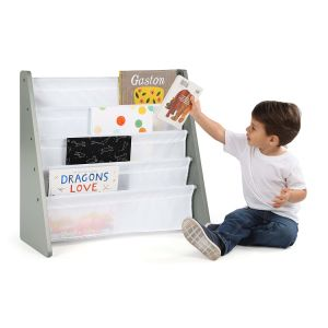 As crianças Estantes móveis com transportador de tecido de nylon para livros