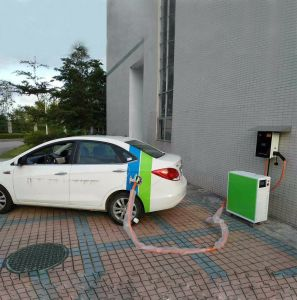 30kw Aparcamiento al aire libre EV multifunción cargador carga inteligente de la estación de pila