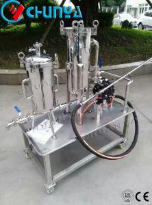 水ポンプを搭載する産業高品質Ssの移動可能なバッグフィルタ
